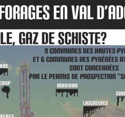 NON AU GAZ DE SCHISTE 65 : Pétition contre l'exploration d'hydrocarbures, permis en cours