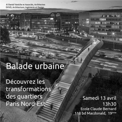 Paris Nord-Est : balade urbaine le 13 avril