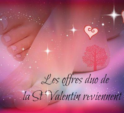 Les offres de la St Valentin reviennent, mettez un cadeau à ses pieds.
