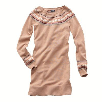 Robe pull maille jacquard coton biologique 38/40 Active Weaw