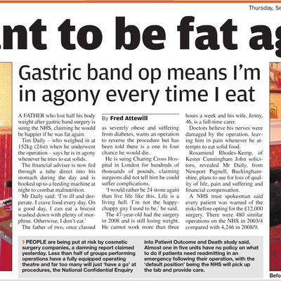 How to write a newspaper article - I want to be fat again