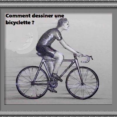 Dessin et peinture - vidéo 2723 : Comment dessiner une bicyclette, étape par étape ? - crayon.