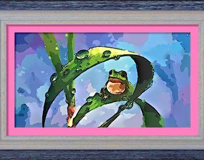 Dessin et peinture - vidéo 2457 : La grenouille dans la roselière (tuto) - peinture chinoise à l'aquarelle.