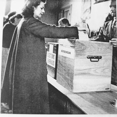 21 octobre 1945 - Premier vote des femmes dans un scrutin national