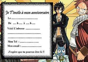Invitation anniversaire Fairy Tail