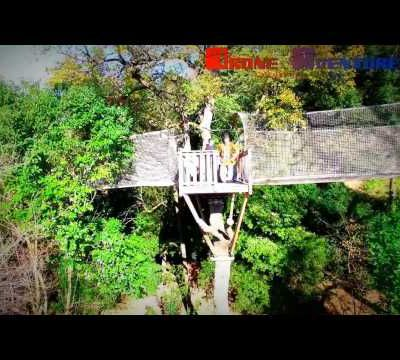 Le camp trappeur Cannes by Drone Aventure