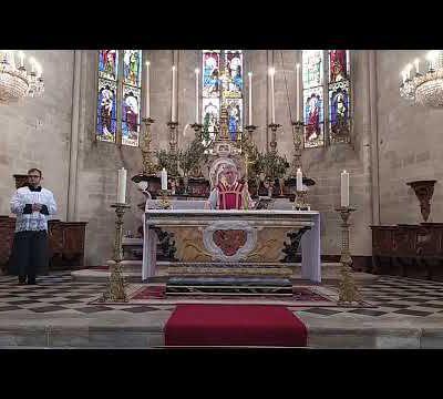 Messe des Rameaux et de la Passion, collégiale Sainte Marthe, 5 avril 2020