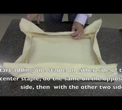 How to stretch an unprimed canvas
