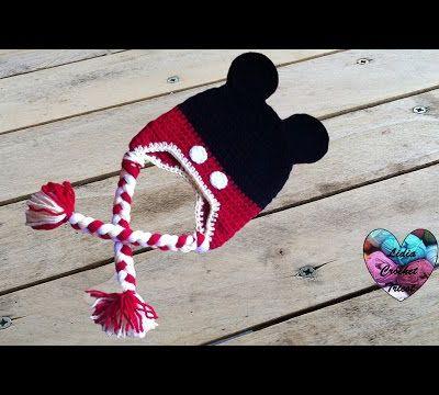 Tutos bonnets Minnie et Mickey au crochet