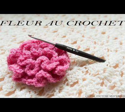 Jolies fleurs au crochet , en vidéo sur Youtube , le tout en Français !
