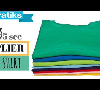 Comment plier un Tee - shirt en 5 secondes ?