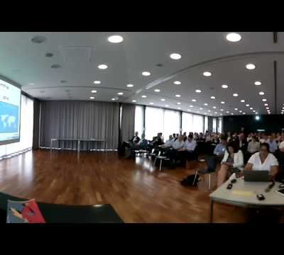 First VR Keynote on Blockchain with Giroptic IO 360 camera