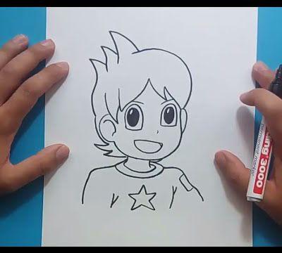 Como dibujar a Nathan paso a paso - Yo Kai Watch