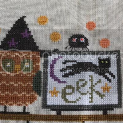 Spooky halloween mantle (along came a spider)