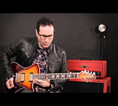 Blues Saraceno and The Ernie Ball Music an Armada guitar