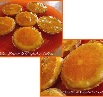 Tartelettes à la crème d'oranges