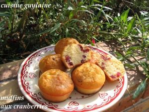 Muffins aux canneberges