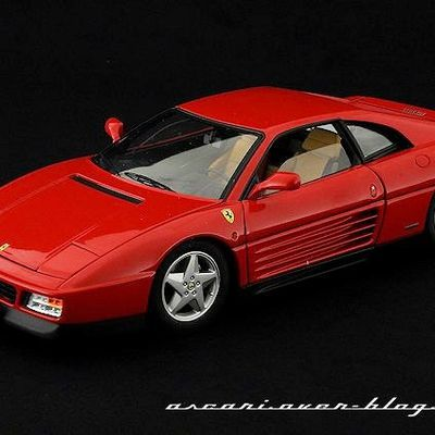 FERRARI - 348 TB - 1989 -ELITE / HOT WHEELS - 1/18