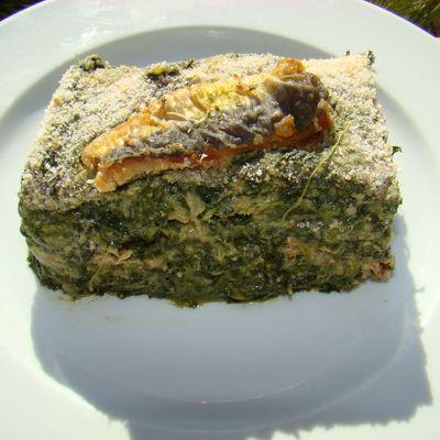 Gratin de sardines aux épinard (classique de la cuisine provençale)
