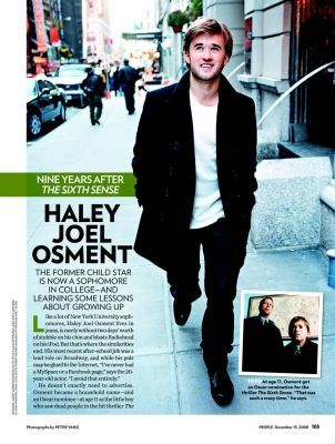 Haley Joel Osment en magazine !
