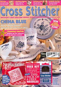 Vide placards : magazines anglais CROSS STITCHER