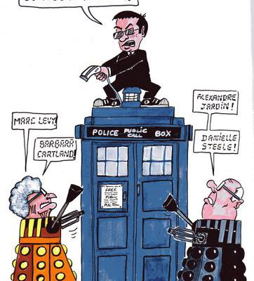 Maille tri-bioute tou ze Doctor who...
