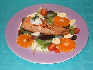Salade aux deux saumons