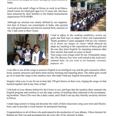 A letter from Orissa, India