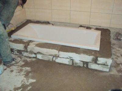 Die Badewanne im Boden ...