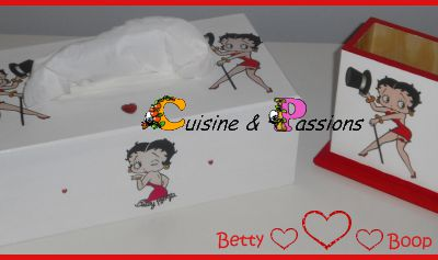 Serviettage: ensemble Betty Boop