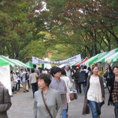 代々木公園でデモと蛸焼き Manifestation et takoyaki au parc Yoyogi