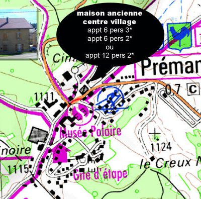 Plan appt 6 pers 2* village Premanon