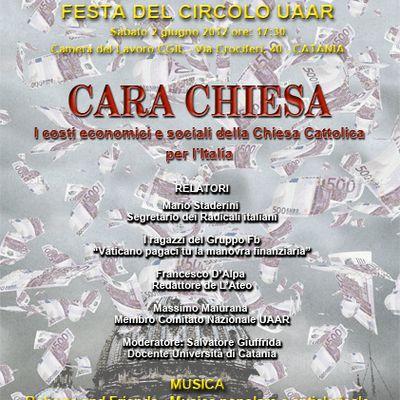 volantino festa UAAR Catania