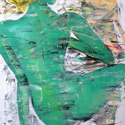 MAGDA Y CLARA /óleo /90x60 cm