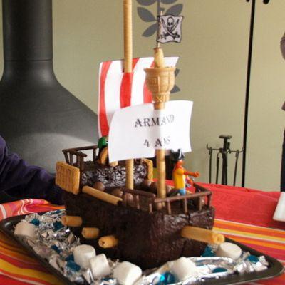 Gâteau pirates pour les 4 ans de mini-cobaye