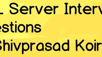 SQL Server Database Design Interview questions