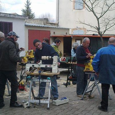 Les tourneurs sur bois à l'Atelier