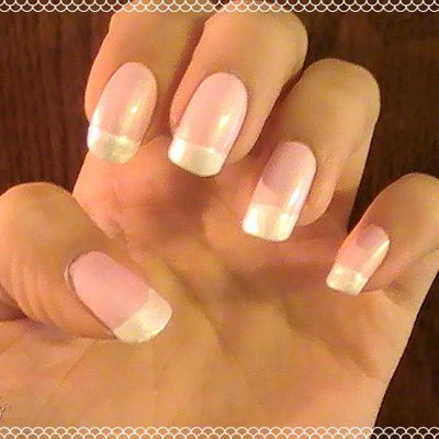 Formal Romantic Pinkish French Tips