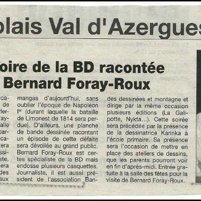 BERNARD FORAY ROUX, LA BD EN AZERGUES
