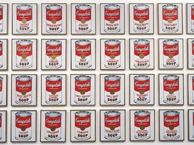 « 32 Campbell's soup cans » et « Marilyn diptych » d'Andy Warhol