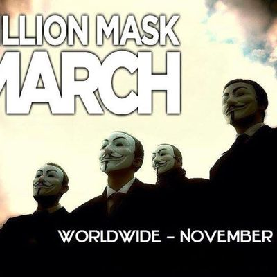 Op Million Mask March 5 novembre 2014 - Annecy