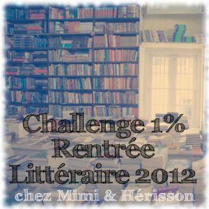 Challenge 1% rentrée littéraire 2012
