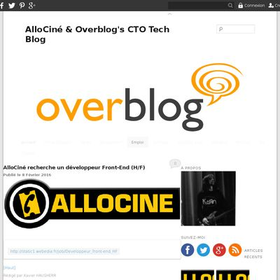 AlloCiné & Overblog's CTO Tech Blog