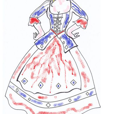Colombina da colorare: carnevale e disegni