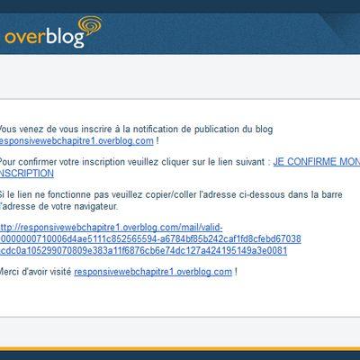 La newsletter Overblog nouvelle est disponible !!