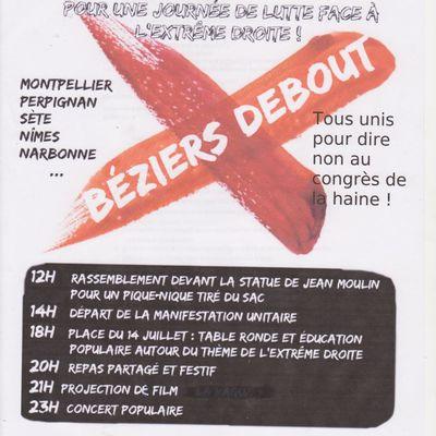 Samedi 28 mai à Béziers