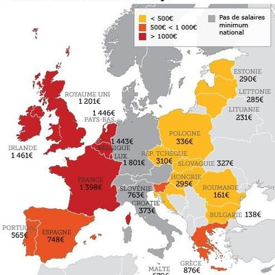 LE SALAIRE MINIMUM EUROPEEN SE GENERALISE
