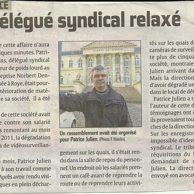 article courrier picard pour la relaxe de patrice