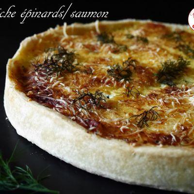 Quiche épinards/saumon