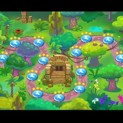"""map pour jeu android style """"farm heroes"""""""